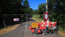 Vanligvis kommer vi forbi veiarbeidere, men ikke når de har fjernet broen...